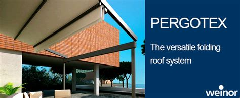 weinor pergotex adjustable folding roof system weinor