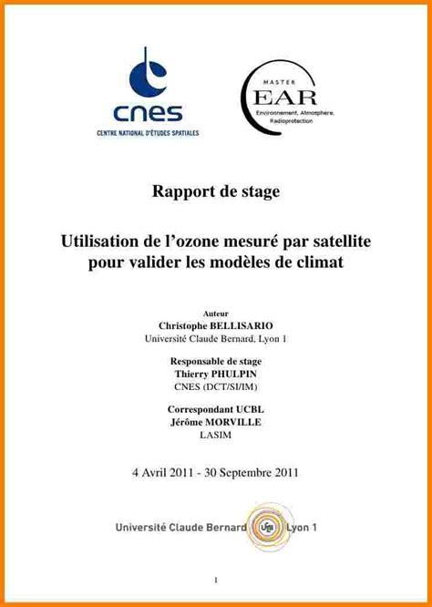 rapport de stage en cuisine exemple 7 mod 232 le rapport de stage lettre officielle