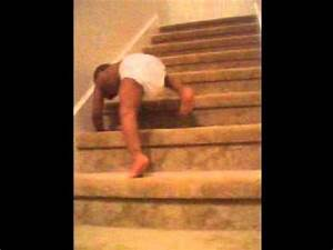 Little boy fall down stairs. - YouTube