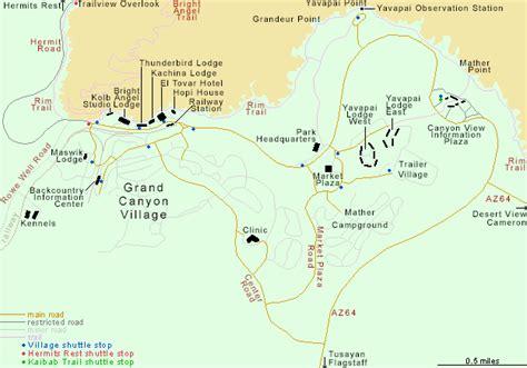 map  grand canyon village arizona