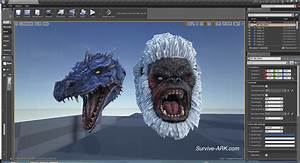 Devkit Preview Gorilla And Dragon Trophy Heads And Tek
