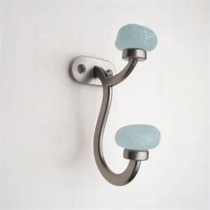 decorative coat racks bathroom towel hooks sea glass With decorative towel hooks for bathrooms