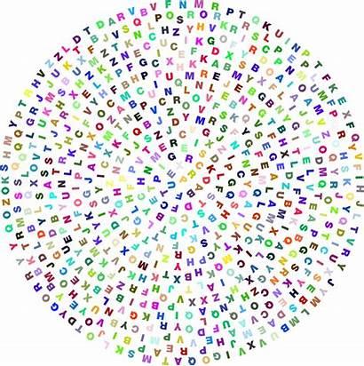 Random Circle Alphabet Prismatic Clipart Openclipart