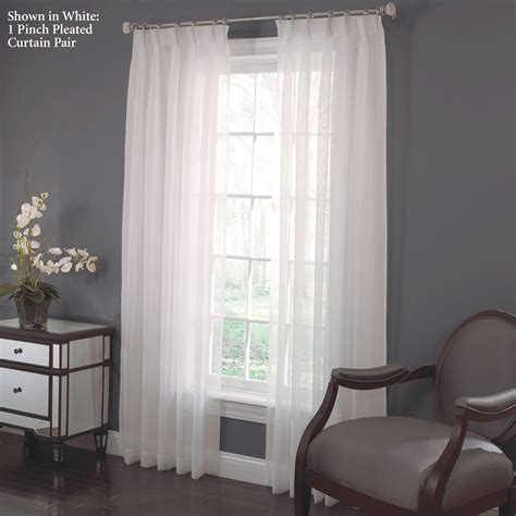 larvotto sheer voile pinch pleated curtains