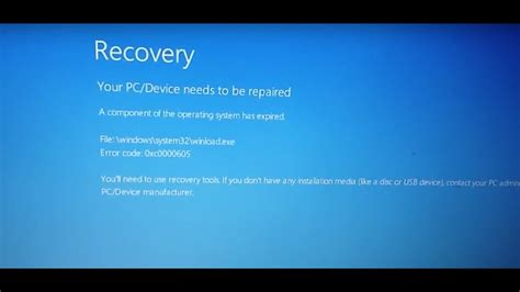 fix windows error xc recovery  pcdevice    repaired blue screen
