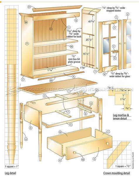 kitchen cabinet plans cupboard plans woodarchivist