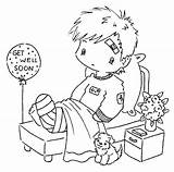 Coloring Sick Child Well Printable Popular sketch template