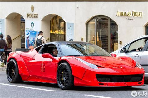On its own the ferrari 458 looks damn sexy. Ferrari 458 Italia Liberty Walk Widebody - 27 April 2015 - Autogespot