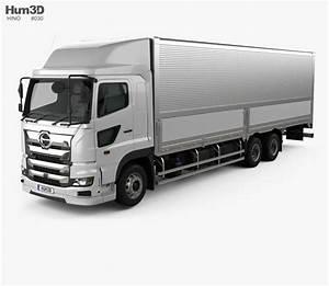 Hino 700 Profia Box Truck 2017 3d Model