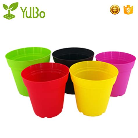 garden large coloured plastic plant pots flower pot for