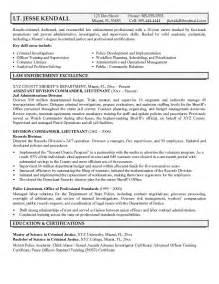 entry level enforcement resume template exle lieutenant resume free sle