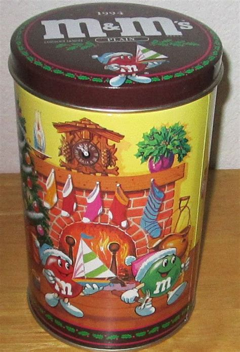 1994 m m s brand limited edition tin canister no