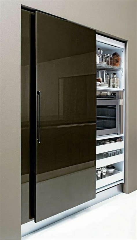 porte de cuisine coulissante la porte coulissante en 43 variantes magnifiques