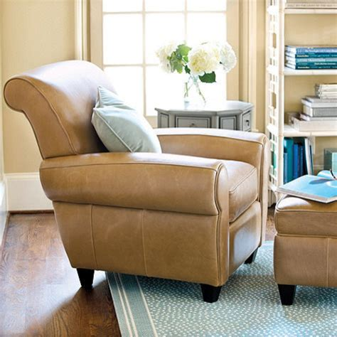 leather chair ottoman transitional armchairs
