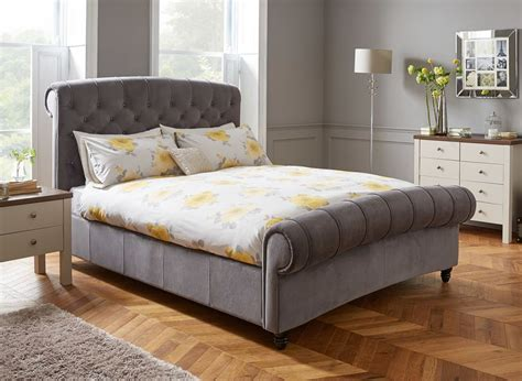 ellis upholstered bed   sumptuous bedroom