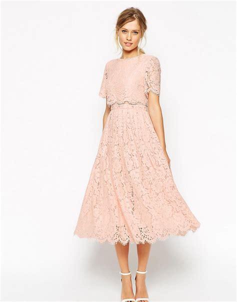 midi wedding dress asos asos salon lace crop top midi prom dress at asos