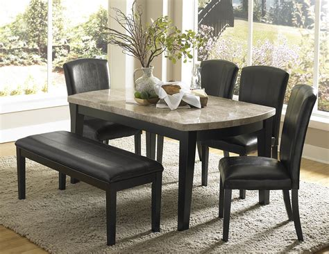 cristo marble top dining room set  homelegance