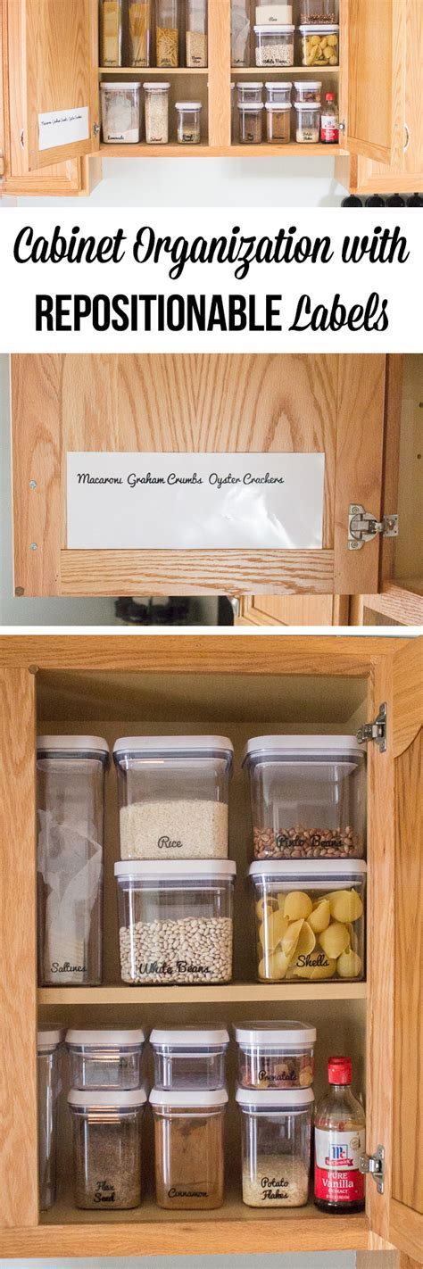Cabinet Organization With Repositionable Labels  I Heart