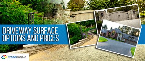 driveway surface options and prices survey tradesmen