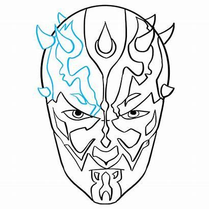 Maul Darth Wars Draw Drawing Step Easy