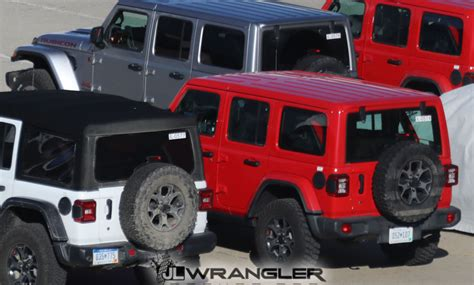 2018 Jeep Wrangler Jl Colors by Colored Top Jl Wranglers Spied 2018 Jeep