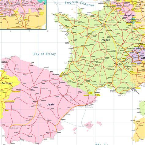road map  france  spain  travel information