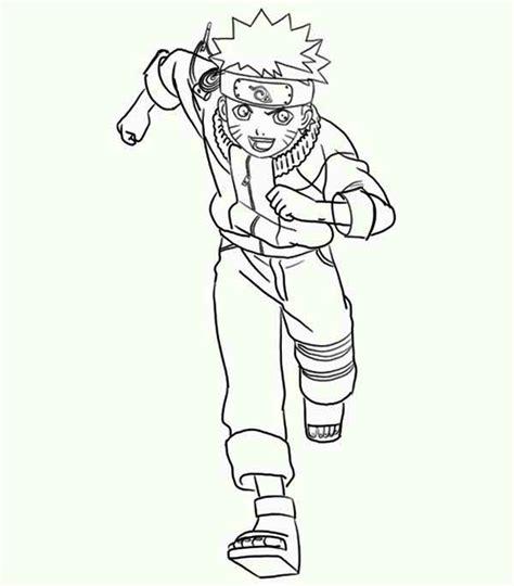 naruto running coloring page  print
