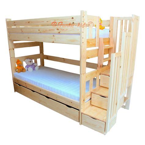 lit superposé avec lit superposé avec escalier rangement enrique 200x90 cm