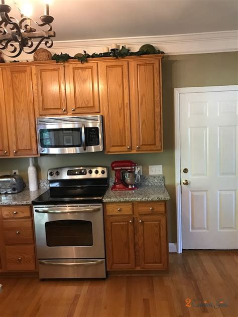 pearly white oak kitchen upgrade  cabinet girls