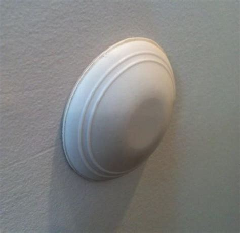 Door Knobs Protectors by Door Knob Wall Protector Prevent Drywall Holes Ding White