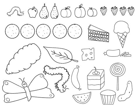 hungry caterpillar coloring pages printable