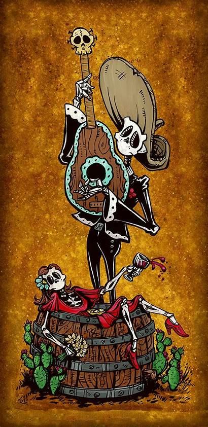 Night Date Dead Mariachi Lozeau David Skeleton