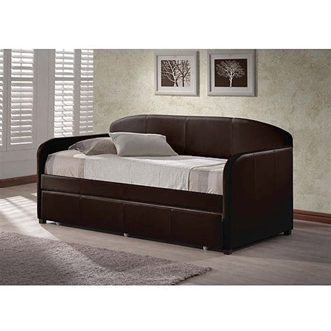 day beds walmart hillsdale furniture springfield daybed brown with trundle