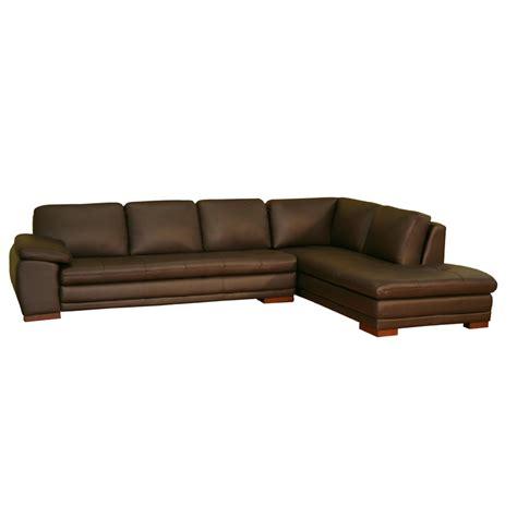 wholesale interiors leather sofa  chaise dark brown   sofa chaise