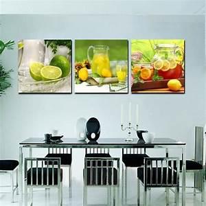accueil cuisine decoration toile moderne peinture murale With decoration salle a manger peinture pour deco cuisine