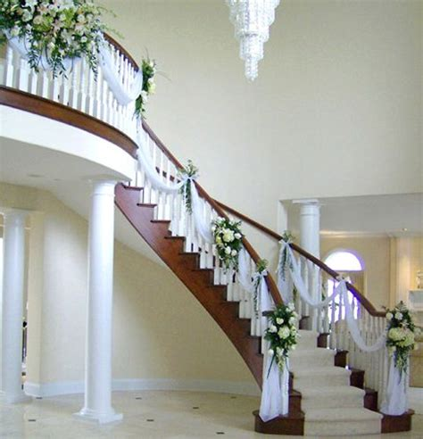 wedding decorations for staircases staircase decoration