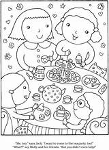 Tea Coloring Dover Welcome Publications Doverpublications Games Adult Bing sketch template