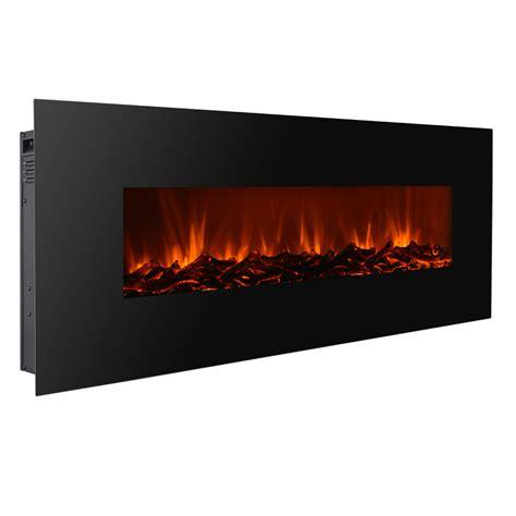 "New Modern 50"" Electric Wall Mounted Fireplace Heater W"
