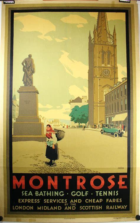 MONTROSE, Vintage travel poster designed by Austin Cooper