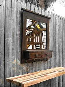 Large, Entry, Mirror, Made, Of, Solid, Reclaimed, By