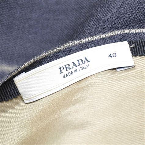 Authentic Second Hand Prada Horizontal Tie Dye Skirt Pss