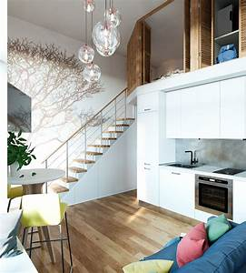 Small, Studio, Apartment, In, Moscow, With, Loft, Bedroom