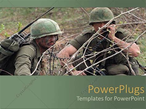 military powerpoint powerpoint template two army during the war 9187