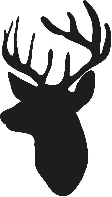 reindeer head silhouette printable  getdrawingscom