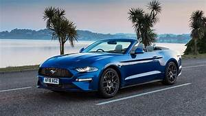 Photos Ford Mustang 2018 Ecoboost Convertible Blue Cars