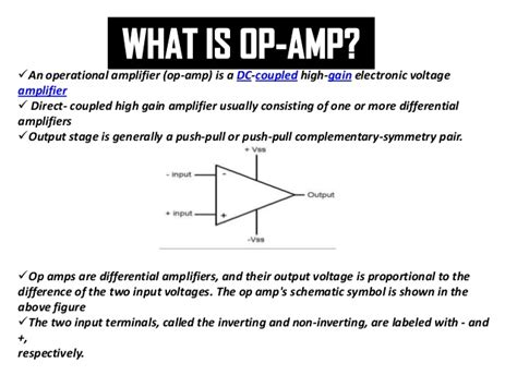 Op Amp(operational Amplifier