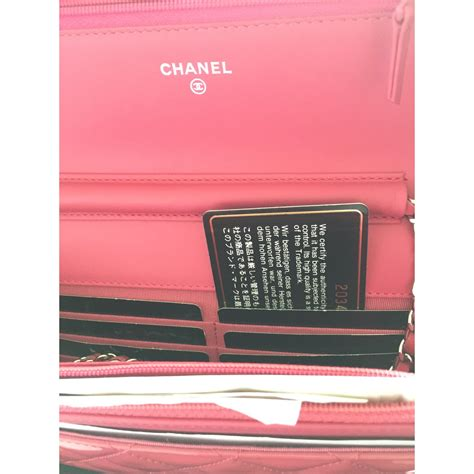 chanel pink chanel wallet  chain woc clutch bags patent