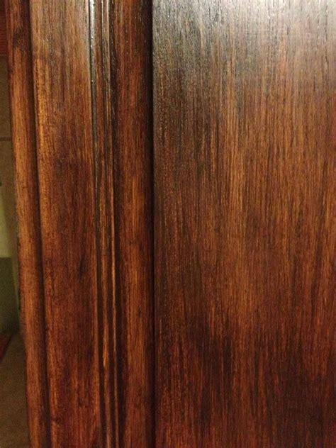 coat gf java gel stain  honey oak cabinets