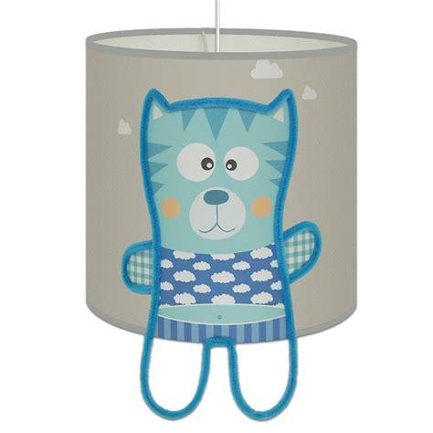 suspension chambre bébé suspension minou gris et bleu pour l 39 éclairage des
