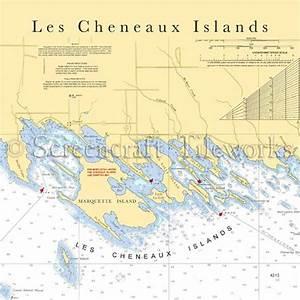 Michigan - Les Cheneaux Islands / Nautical Chart Decor